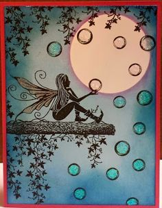 Lavinia Stamps Challenge Email Entries : Dawn Santalucia - Challenge 5 May Lavinia Stamps Cards, Rubber Stamp Company, Fairy Silhouette, Happy Paintings, Tampons, Fairy Art, Watercolor Cards, Art Journal Pages, Book Design
