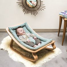 We stumbled across this insanely gorgeous baby rocker from @Charliecraneparis and just had to share it with you! We love the minimalist design and would be proud to have this on display in any room in our home #miniproductlove