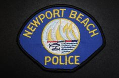 Newport Beach Police Patch, Orange County, California (Vintage Pre-1988 Issue)