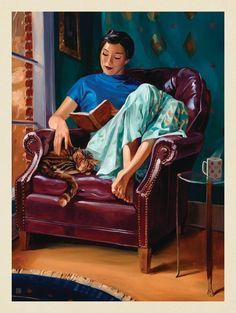 Anderson Design Group – The Kai Carpenter Collection – Oil Painting: Cat Nap #OilPaintingCat