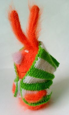 Funny Bunny Ginger  Amigurumi Toys  Gift Ideas от MiracleStore, $28.00