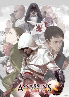Assassin's Creed, altair, malik, maria, Robert, al mualim,