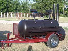 NEW Custom BBQ pit smoker Charcoal grill trailer Custom Bbq Smokers, Custom Bbq Pits, Wood Smokers, Meat Smokers, Bbq Smoker Trailer, Bbq Pit Smoker, Barbecue Pit, Trailer Smokers, Charcoal Grill Smoker