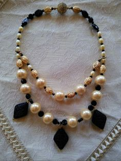 Dramatic Pearl Necklace featuring Japanese by BlingBeaderBaubles, $35.00