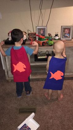 One fish, two fish, red cape, blue cape! Two more TinySuperheroes join the squad!!!   Sponsor more children to receive their much-awaited capes at tinysuperheroes.com