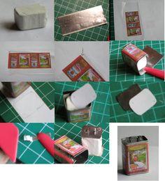 Mini coisas para posteridade: PAP miniatura de lata de azeite