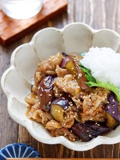 Eggplant and pork belly with sweet and sour teriyaki - Food - レシピ Pork Recipes, Wine Recipes, Asian Recipes, Cooking Recipes, Cafe Food, Food Menu, Vegetable Appetizers, Japanese Street Food, How To Cook Pork