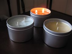 soy candles from Thymeless Bath & Oils