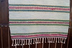 Vintage Swedish rag rug. Antique Swedish Rag Rug by vintagdesign