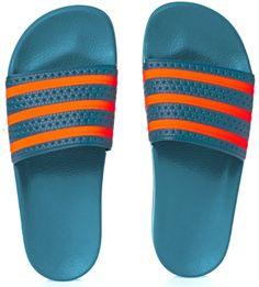 796a212b017ed Adidas originals Adilette Flip Flops Surf Petrol S15-st solar Orange surf  Petrol S15-st