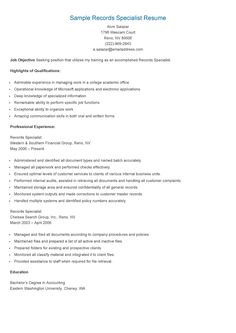 Quality improvement specialist resume sample
