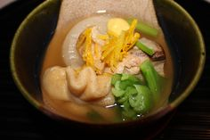 Hot brothy soup, Kyoto style in Seki, Japan