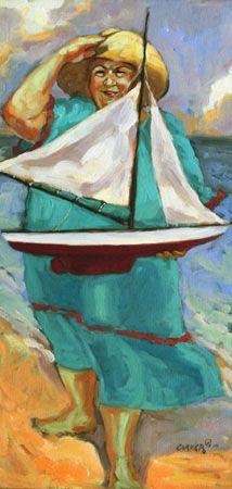 Sailing Lady...on the beach...