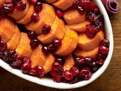 Maple Cranberry Sweet Potatoes  - three of my favorite things...
