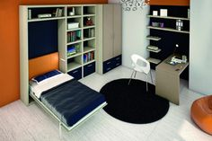 The City 2 is a wall bed that simply folds away vertically to blend in with the wall or other furniture in the room.