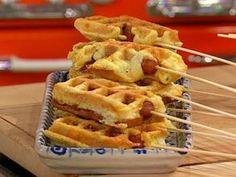 Jalapeno popper waffle corn dogs