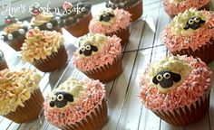 Pink white and grey cupcake ideas