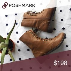 Jeffrey Campbell Crusade Lace Up Ankle Boot Worn once! Bottom of shoe in perfect condition! Jeffrey Campbell Shoes Combat & Moto Boots