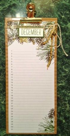Stampin Up Perpetual Birthday Calendar Kit