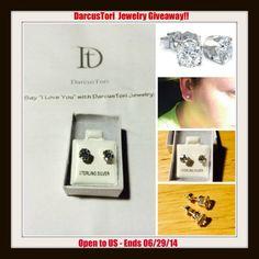 ****DarcusTori Diamond Simulant Earrings in Sterling Silver Giveaway ($60.00 Value)!!**** #darcustori - Krazy Coupon Club