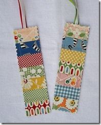 tutorial to make cute bookmarks.Bits and Pieces: Easy Bookmarks Tutorial source: Bits and PiecesGreat tutorial to make cute bookmarks.Bits and Pieces: Easy Bookmarks Tutorial source: Bits and Pieces Scrap Fabric Projects, Small Sewing Projects, Fabric Scraps, Quilting Projects, Sewing Crafts, Cute Bookmarks, Handmade Bookmarks, Bookmarks To Make, Corner Bookmarks