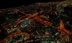Dubai @Night II - Amazing view at night from the 124th floor of the Bruj Khalifa in Dubai, UAE