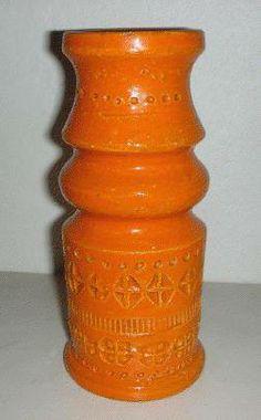 Bitossi Orange Pottery Vase