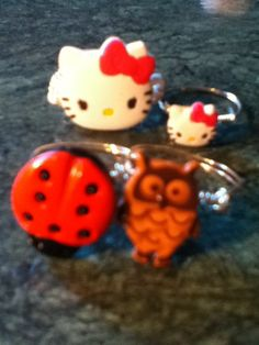 These cute rings are made from buttons!