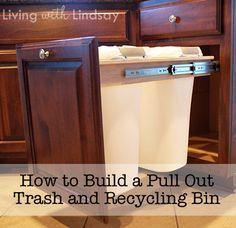 Double Tilt Trash Bin Recycle Bin Slim NARROW Double By Lovemade14 | Kitchen  | Pinterest | Trash Bins