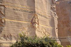 The Mokattam mountain with carved image of Jesus Christ. Photo: Barbora Sajmovicova, 2011, Nikon D3100.