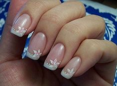 The best New nails art design big collection for summer Photos for girls. Colorful nails pictures with steps you can made easy. How to nail art designs, art nail designs, design nail polish, manicure french. French Tip Nail Designs, Flower Nail Designs, White Nail Designs, Simple Nail Art Designs, Flower Nail Art, French Manicure With Design, Beachy Nail Designs, Purple French Manicure, Nail French
