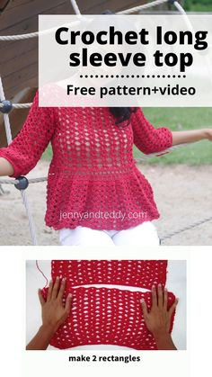 Crochet Shoes, Cute Crochet, Crochet Clothes, Crochet Top, Beginner Crochet Tutorial, Beginner Crochet Projects, Crochet Long Sleeve Tops, Crochet Summer Tops, Crochet Shawls And Wraps