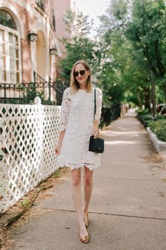 Little white (lace) dresses are my jam for summertime events or nights out. I love this sale one! It fits TTS and I'm able to move comfortably in it. It's also such a bargain!