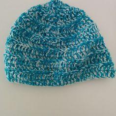 Χειροποίητο πλεκτό σκουφί πετρόλ με άσπρο Crochet Hats, Beanie, Fashion, Knitting Hats, Moda, Fashion Styles, Beanies, Fashion Illustrations, Beret
