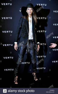 Chanel Iman black leather trousers with rivets fringe vest black big hat white blouse Gypsy Style, My Style, Chanel Iman, Leather Trousers, Celebs, Celebrities, Celebrity Dresses, Leather Fashion, Nice Dresses