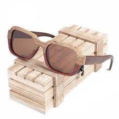 Handmade Polarized Mirror Fashion Eyewear sport glasses in Wood Box Vintage Bamboo Wooden Sunglasses - Men Sunglasses - Wedding Wooden Sunglasses, Stylish Sunglasses, Sunglasses Women, Wooden Gift Boxes, Wood Gifts, Uv400 Sunglasses, Polarized Sunglasses, It Goes On, Unisex