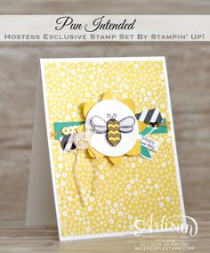 nice people STAMP!: Pun Intended Bee Birthday Card