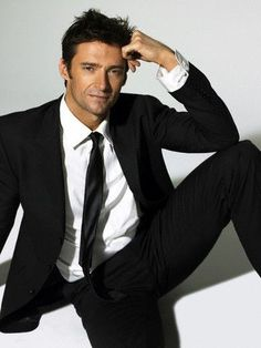 Hugh Jackman. I love men in suits...