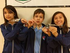 All-American Fencing Academy fencers at Apex Fencing Academy tournament tournament. Laialona takes second place and Isabelle takes third in the girls event. Daniel takes third in the boys event. The older kids are getting ready for eliminations! http://aafa.me/2kETCjV