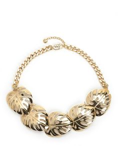 PALM LEAF STATEMENT NECKLACE - Juicy Couture