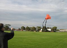 Hand Launching Kites In Gusty Winds.