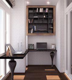 Удобный кабинет на балконе или лоджии 15