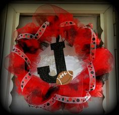 FOOTBALL SEASON front door wreath to support local highschool! <3