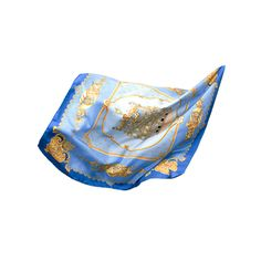 "SOLEIL ROYAL 100% silk | Made in France | Square scarf | Handfinished |  36"" x 36"" 