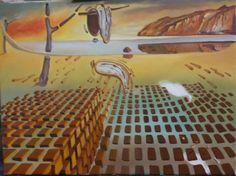 """Trabalho inspirado em a """"Desintegração da Persistência da Memória"""" de Dalí - (12ª etapa) (22/2/2017)"""