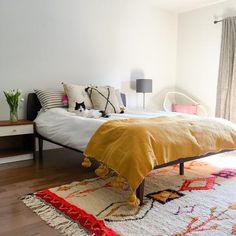 Yellow Moroccan Pom Pom Blanket