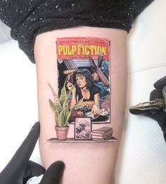 Pulp Fiction by Kozo Tattoo – Tattoos – Cozy Places Mini Tattoos, Red Tattoos, Small Tattoos, Tattoos For Guys, Tattoos For Women, Cool Tattoos, Dragon Tattoos, Awesome Tattoos, Flower Tattoos