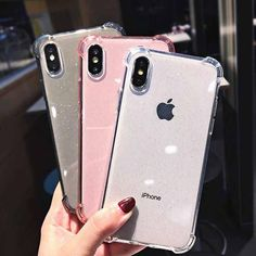 High-Quality Phone Case FREE Worldwide Shipping Protective Silicone Phone Case For iPhone 6 7 8 Plus X XR XS MAX Transparent Pink Black White Glitter Shiny Shockproof Anti-knock Anti-skid Scratch-resistant - iSTHEL Iphone 6 S Plus, Iphone 8, Iphone Hacks, Free Iphone, Iphone 32gb, Apple Iphone, Iphone7 Case, Iphone Price, Accessoires Iphone