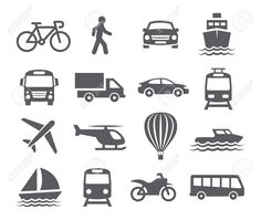 Illustration about Transport icons on white background. Illustration of sailing, sailboat, sign - 51874888 Business Illustration, Pencil Illustration, Free Vector Images, Vector Free, Best Icons, Banner, Travel Icon, Icon Collection, Creative Sketches