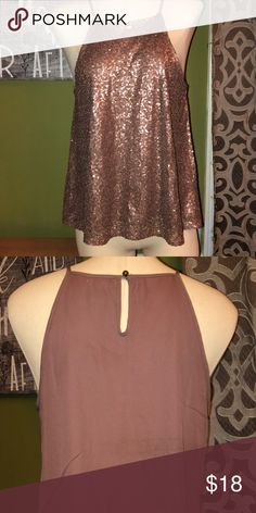6f2ee73ae97d51 🎉HP🎉Clover And Scout Bronze Sequin Tank Size Medium. Gorgeous bronze sequin  tank